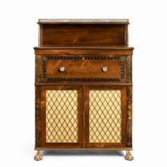 A Regency brass inlaid rosewood secretaire 1810 - 976903