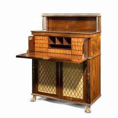 A Regency brass inlaid rosewood secretaire 1810 - 976904