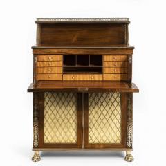 A Regency brass inlaid rosewood secretaire 1810 - 976906