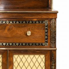A Regency brass inlaid rosewood secretaire 1810 - 976908