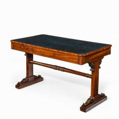 A Regency mahogany end support library table - 1619932