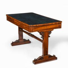 A Regency mahogany end support library table - 1619938