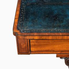 A Regency mahogany end support library table - 1619941