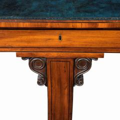 A Regency mahogany end support library table - 1619943