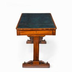 A Regency mahogany end support library table - 1619945
