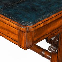 A Regency mahogany end support library table - 1619946