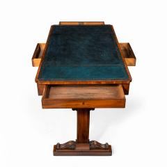 A Regency mahogany end support library table - 1619948