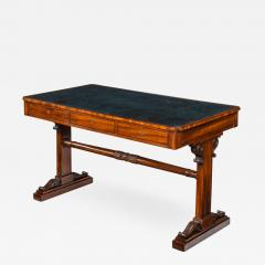A Regency mahogany end support library table - 1620664