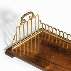 A Regency rosewood and gilt brass mounted book stand attributed to Gillows - 2023112