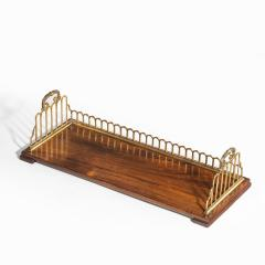A Regency rosewood and gilt brass mounted book stand attributed to Gillows - 2023114