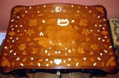 A Rococo Inlaid Italian Mechanical Writing Table - 117525