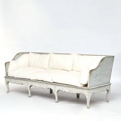 A SWEDISH ROCOCO PAINTED SOFA BENCH APPROX 1770 - 1055199