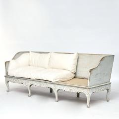 A SWEDISH ROCOCO PAINTED SOFA BENCH APPROX 1770 - 1055200