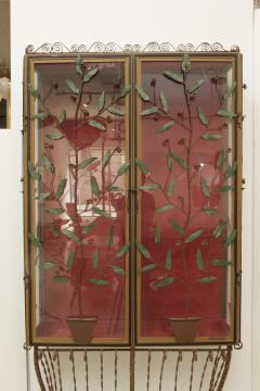 A Scotto A Scotto Signed Showcase With Floral Metal Decoration - 508118
