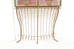 A Scotto A Scotto Signed Showcase With Floral Metal Decoration - 508122