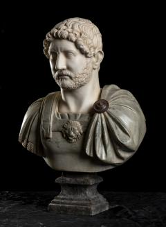A Set Of Four Italians Specimen Marble Busts Of Roman Emperors Grand tour Style - 1964014