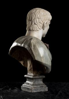 A Set Of Four Italians Specimen Marble Busts Of Roman Emperors Grand tour Style - 1964017