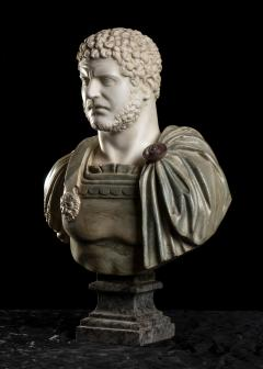 A Set Of Four Italians Specimen Marble Busts Of Roman Emperors Grand tour Style - 1964019