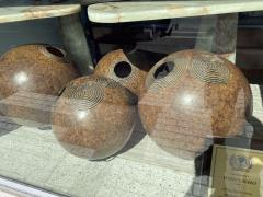 A Set of 7 American Modern Bamboo and Resin Composite Sphere Lights - 1753695