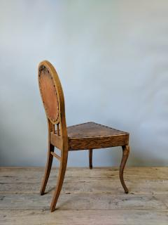 A Set of Eight French Leather and Oak Art Nouveau Chairs Circa 1910 - 353650