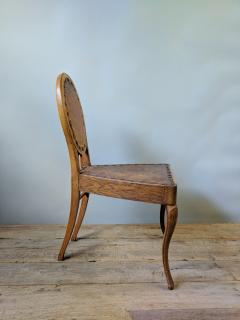 A Set of Eight French Leather and Oak Art Nouveau Chairs Circa 1910 - 353651