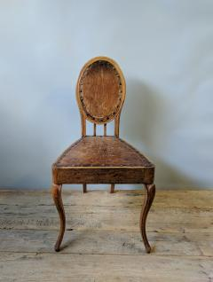 A Set of Eight French Leather and Oak Art Nouveau Chairs Circa 1910 - 353652