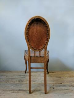 A Set of Eight French Leather and Oak Art Nouveau Chairs Circa 1910 - 353653