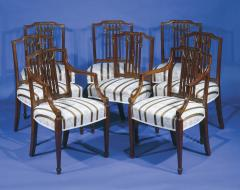 A Set of Eight George III Dining Chairs - 1311432