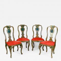 A Set of Four Lacquered Chairs with Noble Coat of Arms - 273190
