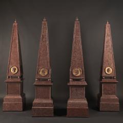 A Set of Four Large Porphyry Obelisks - 961900