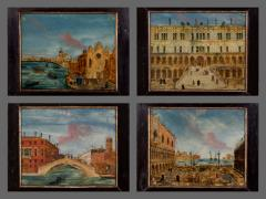 A Set of Four Reverse Paint on Glass Italian Late 18th C Early 19th C  - 153917
