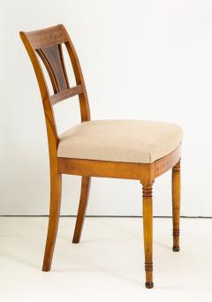 A Set of Six Danish Empire Inlaid Birchwood Sidechairs Circa 1810 1820 - 1279191