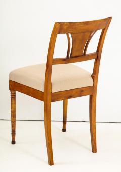 A Set of Six Danish Empire Inlaid Birchwood Sidechairs Circa 1810 1820 - 1279192