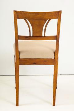 A Set of Six Danish Empire Inlaid Birchwood Sidechairs Circa 1810 1820 - 1279195