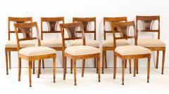 A Set of Six Danish Empire Inlaid Birchwood Sidechairs Circa 1810 1820 - 1279196
