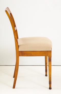 A Set of Six Danish Empire Inlaid Birchwood Sidechairs Circa 1810 1820 - 1279197