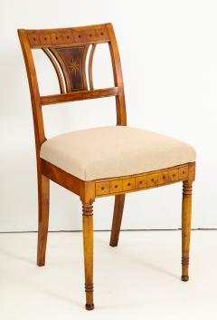 A Set of Six Danish Empire Inlaid Birchwood Sidechairs Circa 1810 1820 - 1279198