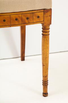 A Set of Six Danish Empire Inlaid Birchwood Sidechairs Circa 1810 1820 - 1279199