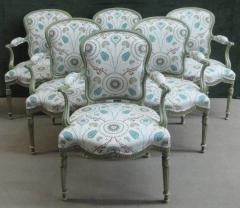 A Set of Six George III Painted Armchairs - 1073544