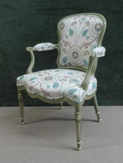 A Set of Six George III Painted Armchairs - 1073545