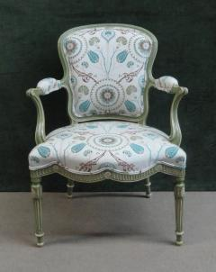 A Set of Six George III Painted Armchairs - 1073546