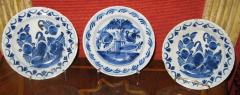 A Set of Three Ceramic Delft Blue and White Floral Decorated Dishes - 307551