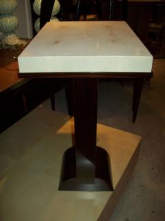 A Shagreen Top Table On A Macassar Ebony Base In The Dominique Style    344570