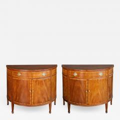 A Shapely Pair of English Edwardian Mahogany Cabinets - 1994233