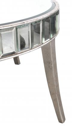 A Shimmering American Circular Cocktail Table with Silver Gilt Wood Supports - 114638