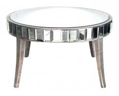 A Shimmering American Circular Cocktail Table with Silver Gilt Wood Supports - 114639