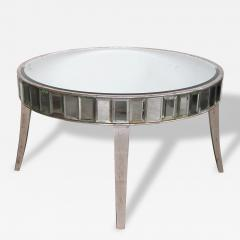 A Shimmering American Circular Cocktail Table with Silver Gilt Wood Supports - 115448