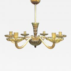 A Six Light Bohemian Crystal Glass Chandelier - 245192