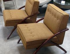 A Sleek and Stylish Pair of American 1960s Ash Grasshopper Chairs - 533470