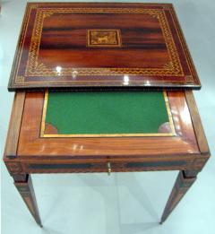 A Small Florentine Game Desk with Mechanical Features - 270998